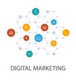 digital marketingpresentation template cover vector image vector image