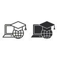 e-learning education icon for graphic and vector image vector image
