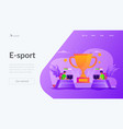 e-sport landing page template vector image vector image