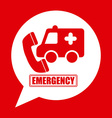emergency concept vector image vector image