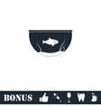 Fish aquarium icon flat vector image vector image