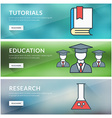 Flat design concept for tutorials education vector image