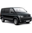 German passenger van vector image vector image