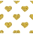 Glitter heart seamless pattern vector image