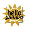 golden watercolor sun vector image vector image