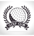 golf club design vector image vector image