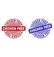 grunge chicken free textured round watermarks vector image vector image
