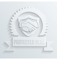 handshake protected deal icon vector image vector image