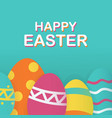 happy easter background template with beautiful vector image vector image