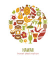 hawaii sightseeing landmarks and famous vector image