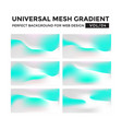 iridescent colored universal mesh gradient vector image
