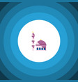 isolated mosque flat icon building element vector image vector image