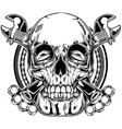 knuckle wrench skull vector image vector image