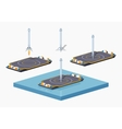 Landing space barge vector image