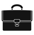 leather suitcase icon simple style vector image vector image