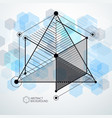 lines and shapes abstract isometric 3d blue vector image