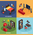 living room concept icons set vector image vector image