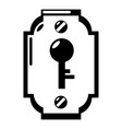 lock front icon simple black style vector image