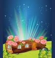 log home at night vector image vector image