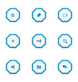 media icons colored set with mute film reel vector image