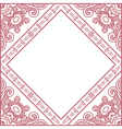 ornamental red frame vector image