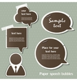 Paper speech bubbles vector | Price: 1 Credit (USD $1)