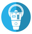 parking meter payment machine shadow vector image