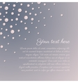 Pink pearls romantic background vector image