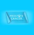 prostate cancer horizontal banner vector image vector image
