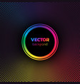 rainbow colors halftone dotted vortex circle vector image