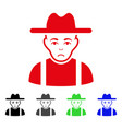 sad farmer guy icon vector image vector image