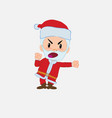 santa claus screams very angry vector image vector image