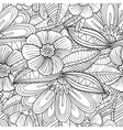 seamless pattern with decorative flowers and leave vector image vector image