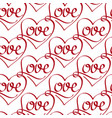 seamless pattern with love lettering vector image vector image