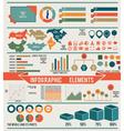 set infographic elements for design vector image