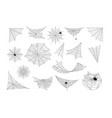set spider web cobweb collection isolated vector image