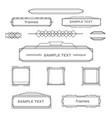 set vintage geometric frame design elements vector image vector image
