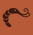shrimp silhouette isolated shrimp on background vector image vector image