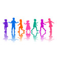 small children group vector image vector image