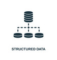 structured data icon monochrome style design from vector image vector image