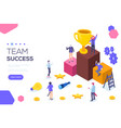 success concept banner can use for web banner vector image vector image