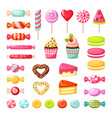 sweet candy lollipop colored delicious tasty vector image vector image
