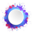 template round frame with colorful watercolor vector image