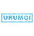 Urumqi Rubber Stamp vector image vector image