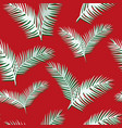 white leaves seamless red background vector image vector image