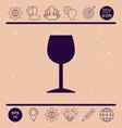 wineglass icon vector image vector image