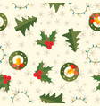 winter holidays seamless pattern vector image vector image