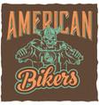 biker t-shirt label design vector image