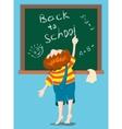 boy writes on a blackboard vector image