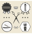 Scissors barber pole razor combo barber vector image